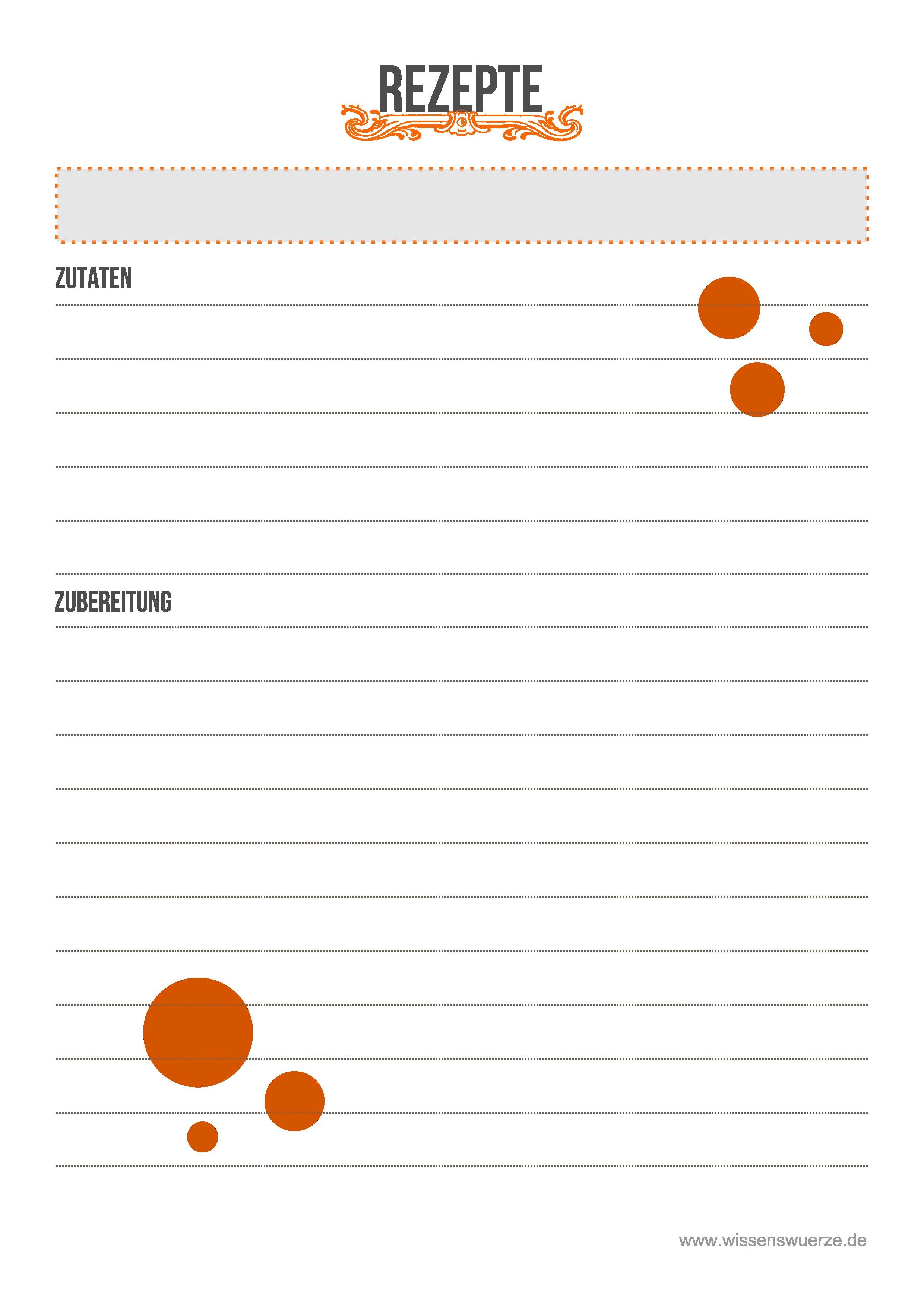 Großartig Vorlage Für Das Rezept Bilder - Entry Level Resume ...