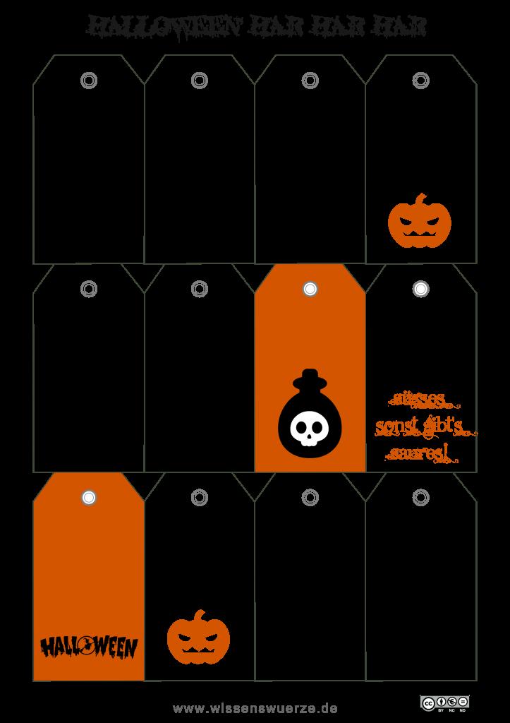 Geschenkeanhänger halloween