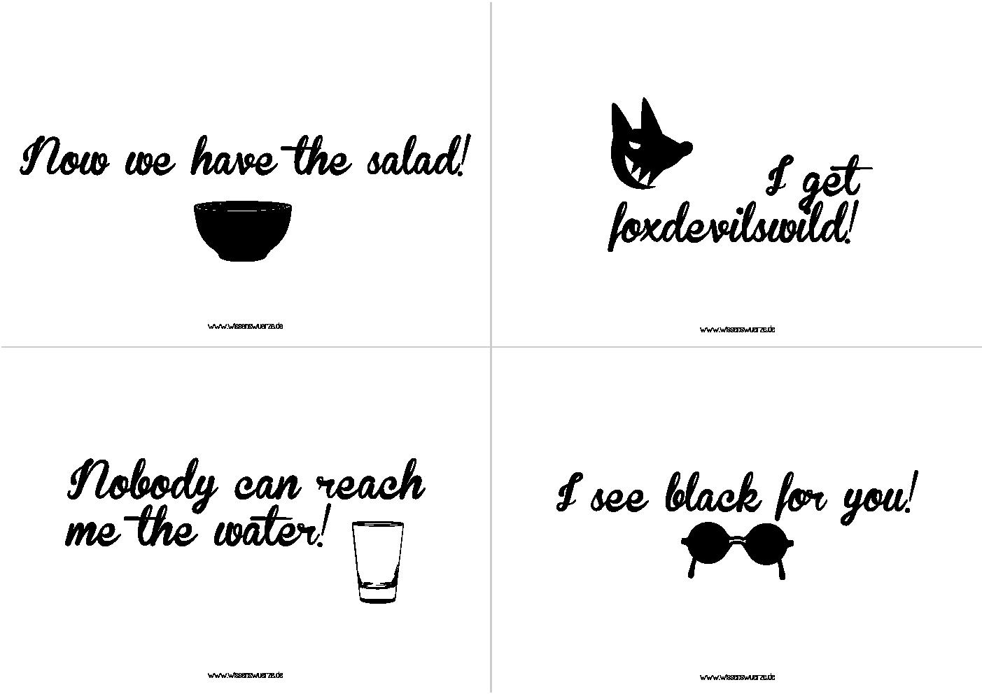 das famose quartett denglisch 3. Black Bedroom Furniture Sets. Home Design Ideas